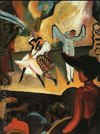 Russian Ballet - August Macke reproduction oil painting