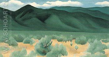 Hills Before Taos 1930 - Georgia O'Keeffe reproduction oil painting