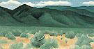 Hills Before Taos 1930 - Georgia O'Keeffe