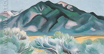 Taos Mountain New Mexico 1930 - Georgia O'Keeffe reproduction oil painting