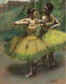 Deux danseuses en Jaune - Edgar Degas