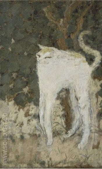 The White Cat 1894 - Pierre Bonnard reproduction oil painting