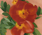 Two Austrian Copper Roses 1957 - Georgia O'Keeffe reproduction oil painting