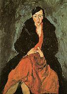 Portrait of Madeleine Castaing c1929 - Chaim Soutine