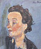 English Girl in Blue c1937 - Chaim Soutine