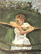 Young Girl at Fence c1940 - Chaim Soutine