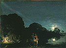 The Flight into Egypt - Adam Elsheimer reproduction oil painting