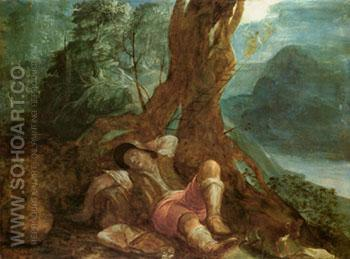 Jacobs Dream - Adam Elsheimer reproduction oil painting