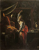 Judith Beheading Holofernes c1601 - Adam Elsheimer reproduction oil painting