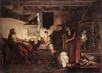 Jupiter and Mercury at Philemon and Baucis c1608 - Adam Elsheimer reproduction oil painting