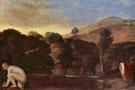 Landschaft mit badender Nymphe c1600 - Adam Elsheimer reproduction oil painting