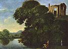 Landschaft mit dem Vestatempel in Tivoli c1600 - Adam Elsheimer
