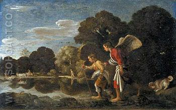 Tobias and the Angel 1607 - Adam Elsheimer reproduction oil painting