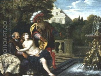 Susanna and the Elders - Adam Elsheimer reproduction oil painting
