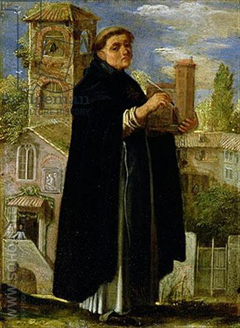 Saint Thomas Aquinas - Adam Elsheimer reproduction oil painting