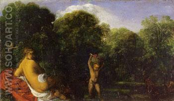 Venus and Cupid c1600 - Adam Elsheimer reproduction oil painting