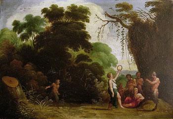 Bacchanale - Adam Elsheimer reproduction oil painting