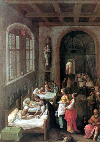 Die Heilige Elisabeth betreut die Kranken 1597 - Adam Elsheimer reproduction oil painting