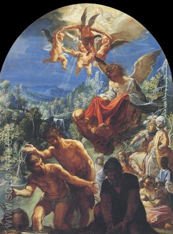 The Baptism of Christ - Adam Elsheimer reproduction oil painting