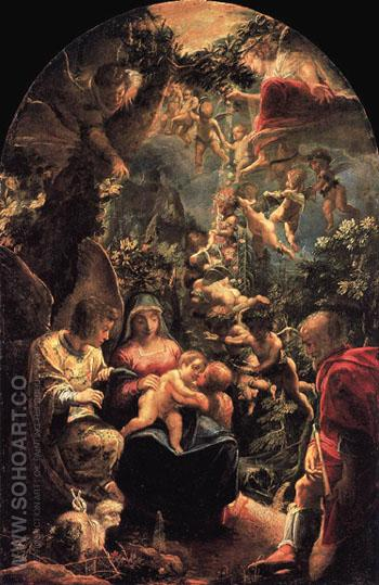 Rest on Flight into Egypt c1599 - Adam Elsheimer reproduction oil painting