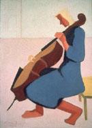 Cello Player in Blue 1944 - Milton Avery