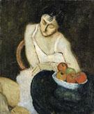 Sally Avery with Still Life 1926 - Milton Avery
