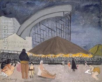The Steeplechase Coney Island 1929 - Milton Avery reproduction oil painting
