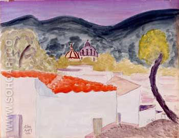 Village Rooftops 1946 - Milton Avery reproduction oil painting
