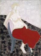 Nude with Red Drape 1956 - Milton Avery reproduction oil painting
