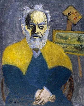 Portrait of Louis M Eilshmius 1942 - Milton Avery reproduction oil painting