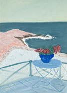 Red Flowers on a Terrace 1944 - Milton Avery