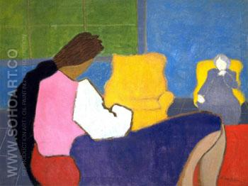 Sally and Sara 1947 - Milton Avery reproduction oil painting