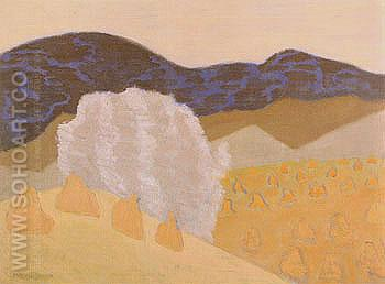 Harvest 1953 - Milton Avery reproduction oil painting