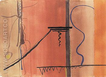 Untitled 10 1945 - Barnett Newman reproduction oil painting