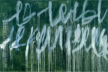 Untitled III - Cy Twombly reproduction oil painting