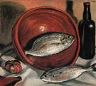 Still Life Fish with Red Bowl c1923 - Salvador Dali