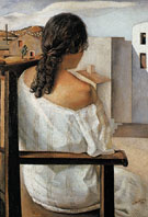 Seated Girl Seen from the Back 1925 - Salvador Dali