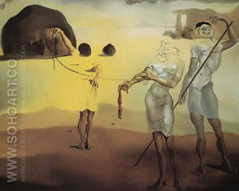 Enchanted Beach with Three Fluid Graces 1938 - Salvador Dali reproduction oil painting