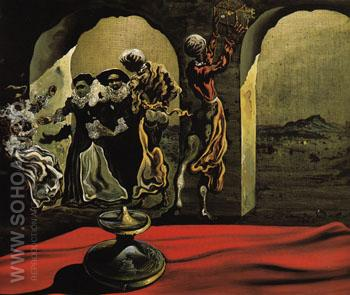 Disappearing Bust of Voltaire 1941 - Salvador Dali reproduction oil painting