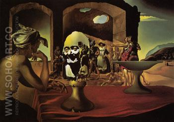Slave Market with the Disappearing Bust of Voltaire 1940 - Salvador Dali reproduction oil painting