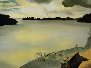 Landscape of Port Lligat 1950 - Salvador Dali reproduction oil painting