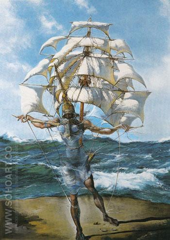 The Ship c1942 - Salvador Dali reproduction oil painting