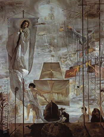 The Discovery of America by Christopher Columbus I c1958 - Salvador Dali reproduction oil painting