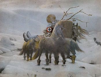 Hitler Masturbating 1973 - Salvador Dali reproduction oil painting