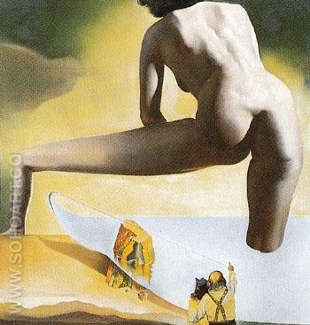 Dali Lifting the Skin of the Mediterrancean Sea to Show Gala the Birth of Venus 1977 - Salvador Dali reproduction oil painting