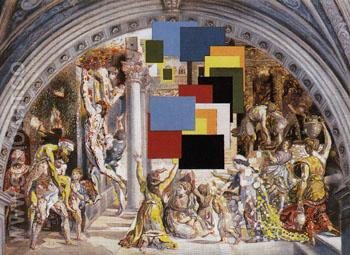 Athens is Burning The School of Athens and the Borgo Fire c1979 - Salvador Dali reproduction oil painting