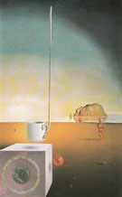 Half a Giant Cup Suspended with an inexplicable Appendage Five Metres Long c1932 - Salvador Dali