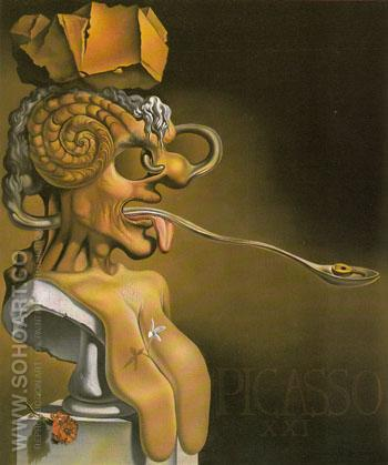 Portrait of Picasso 1947 - Salvador Dali reproduction oil painting
