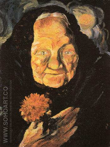 Portrait of Grandmather Llucia c1917 - Salvador Dali reproduction oil painting