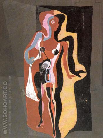 Barcelona Mannequin 1927 - Salvador Dali reproduction oil painting